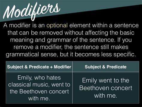 Modified Definition Grammar by Grammar Subject Predicate Modifiers