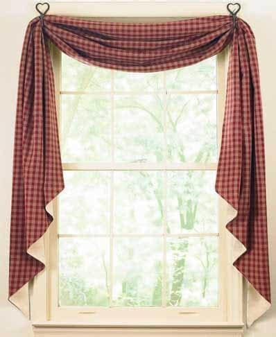 Sturbridge Fishtail Curtain Swags