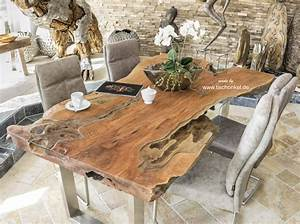 Baumstamm Als Tisch : esstisch baumstamm ~ Watch28wear.com Haus und Dekorationen