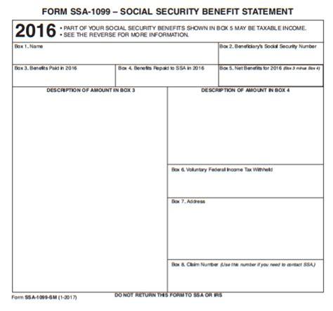 2017 Form Ssa 1099 Sample