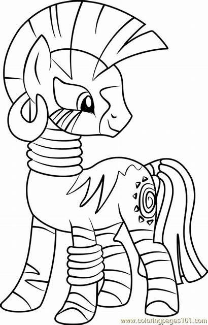 Coloring Pages Pony Zecora Colouring Magic Friendship