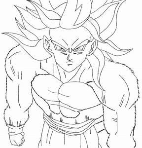 Goku Coloring Pages Super Saiyan 4 Coloringstar