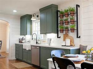 Container gardening ideas from joanna gaines hgtv39s for Kitchen cabinets lowes with herb wall art