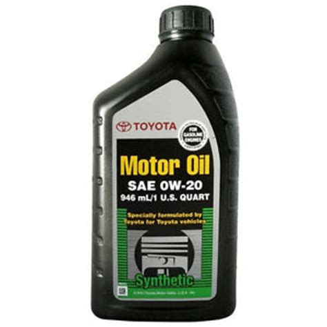Genuine Toyota Full Synthetic 0w20 Engine Oil 1quart 0