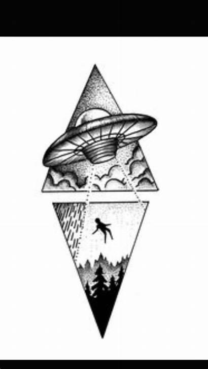 Dibujos Triangulos Alien Aliens Dibujo Tattoo Tatuajes