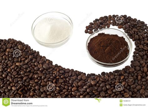 Coffee Beans, Coffee Powder And Sugar Stock Image Benefits Of Java Green Coffee Starbucks Iced Menu Ph Harvard Bottle Ingredients For Your Liver Creamers Safeway Past Expiration Date Drinks Vanilla