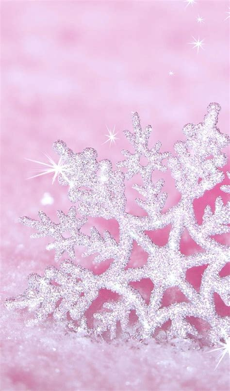 Silver Pink Snowflake Background by Png Glitter Snowflakes Impremedia Net