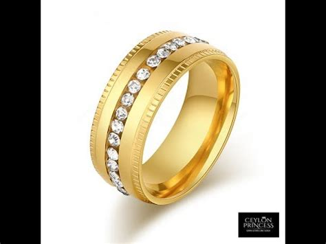gold wedding ring designs sri lanka sri lanka new design rings gold plated jewellery youtube