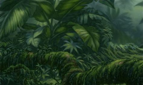 Animated Jungle Wallpaper - jungle animation background 002 matte painting