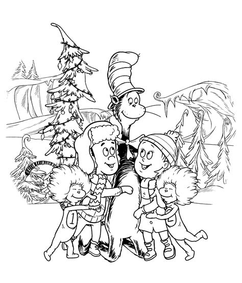 Cat And The Hat Coloring Pages Printable Get Coloring Pages