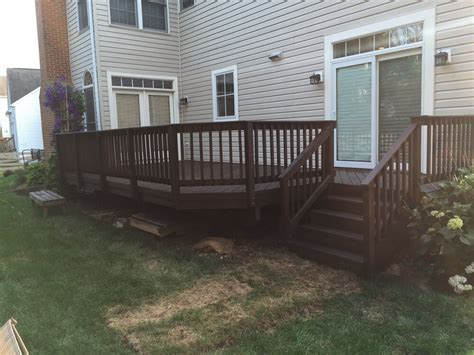 semi transparent stained deck padre brown color  behr