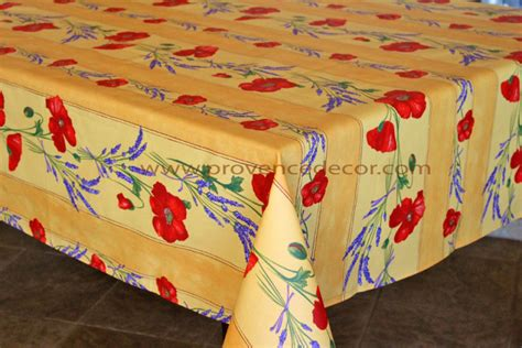 French Provence Poppy Lavender Yellow Acrylic Coated Black Marble Kitchen Table Retro Pub Sets 36 Linen Hemstitch Runner Set Commercial Linens Wooden Tables For Sale Reclaimed Wood Dining