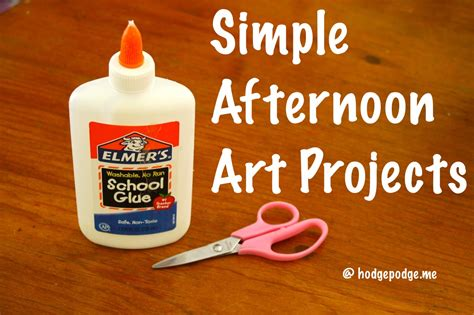simple afternoon art projects hodgepodge