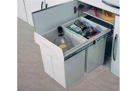 meuble cache poubelle cuisine poubelle tri selectif maxus accessoires de cuisines