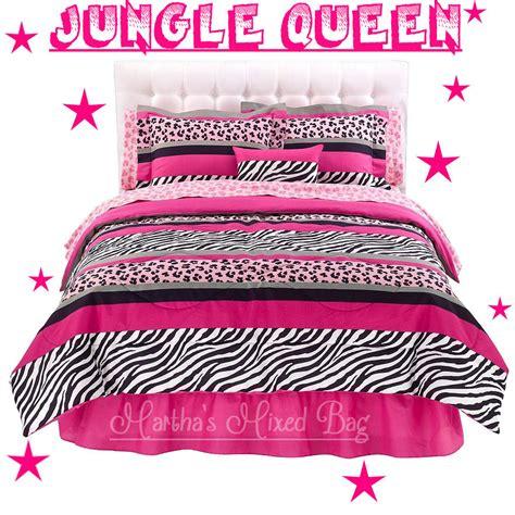 jungle chic pink black white zebra stripe