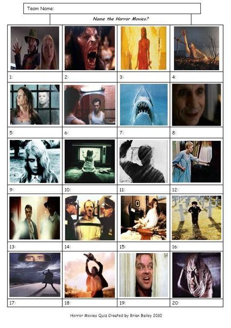 horror movies picture    quiz
