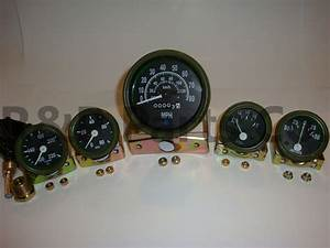 Speedometer 80 Temp Oil Fuel Amp Gauge Kit Olive For Willys Mb Jeep Ford Cj Gpw