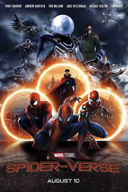 Action Spider Verse Poster Oc Spiderman Marvel