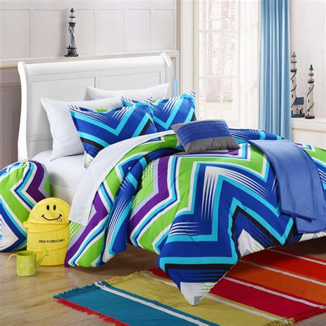 Bedroom Purple And Blue Modern Blue Lime Green And Purple
