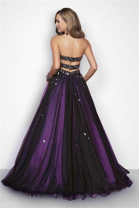 New Black And Light Purple Tulle Sweetheart Beaded Ball
