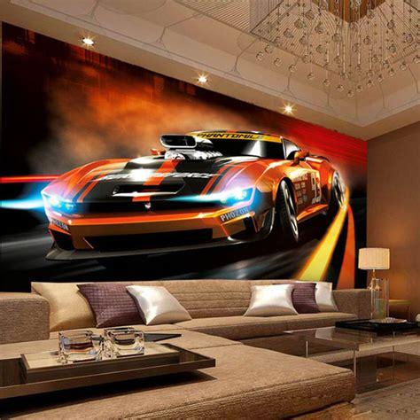 Photo Wallpaper Modern Creative Yellow Sport Car 3d Stereo