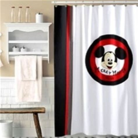 shower curtain disney mickey mouse set of 12 hooks new