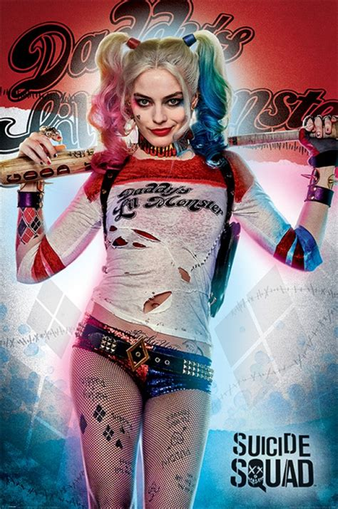 suicide squad posters harley quinn daddys lil monster poster pp panic posters