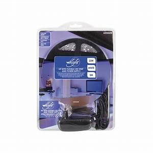Ruban Led Adhésif : kit ruban led blanc chaud 12v 10mm x 5m adh sif 150 leds ~ Edinachiropracticcenter.com Idées de Décoration