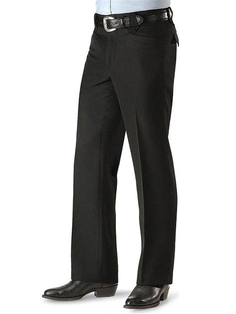 circle  mens black solid dress ranch pants cp jc