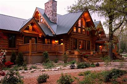 Metal Cabin Log Roof Homes Mountain Colors