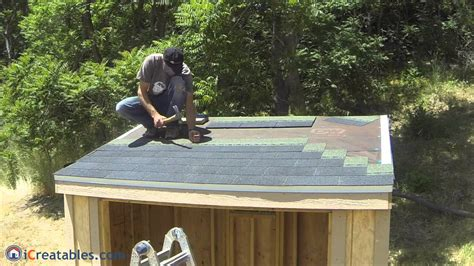 how to shingle a shed roof how to build a lean to shed part 7 roofing install