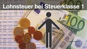 Gehalt Steuerklasse 1 Berechnen : lohnsteuerrechner 2018 lohnsteuer berechnen so geht es ~ Themetempest.com Abrechnung