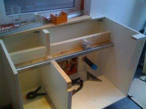 farmhouse sink into ikea cabinets homebuilding