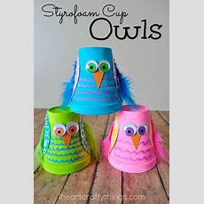 I Heart Crafty Things Cute And Colorful Styrofoam Cup Owl
