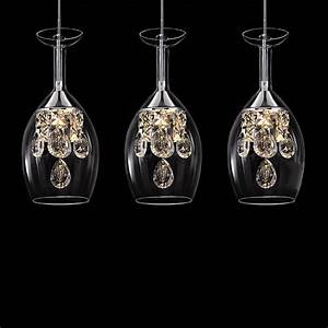 Island crystal led pendant lights glass ceiling fixture