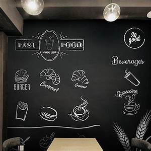 0452m chalk board removable wallpaper sticker draw for Blackboard with white removable letters