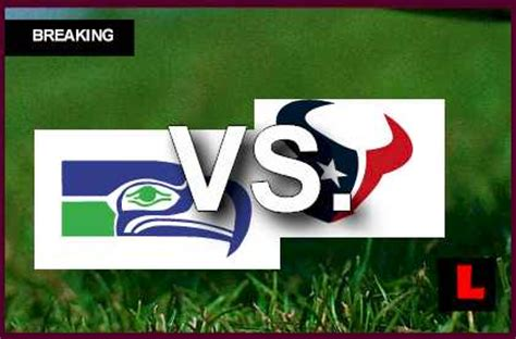 seahawks  texans  score sends teams  overtime