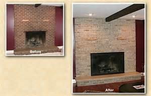Red Brick Fireplace Refinishing