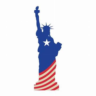 Liberty Statue Flag Usa Transparent Svg Vector