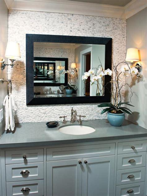 serene single vanity bathroom  neutral backsplash hgtv