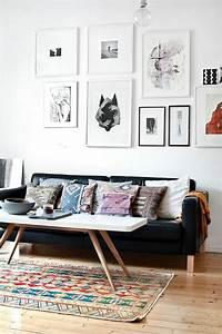 la table basse scandinave simplicite et beau style With tapis de sol avec canapé scandinave cuir