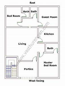 West facing house plan 8 vasthurengancom for Bathroom vastu for west facing house