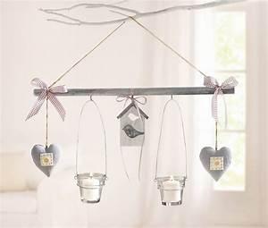 Deko Zum Hängen Ins Fenster : h nge deko vogel mit 2 windlichtern wohnambiente shop ~ Indierocktalk.com Haus und Dekorationen