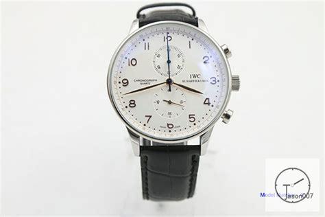 IWC Portugieser Chronograph IW371617 leather Starp 41mm ...