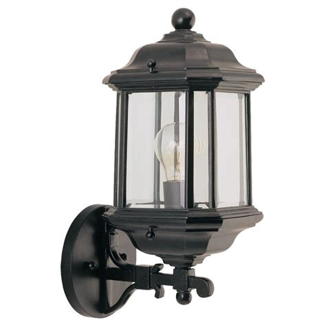 sea gull lighting kent 1 light black outdoor wall fixture