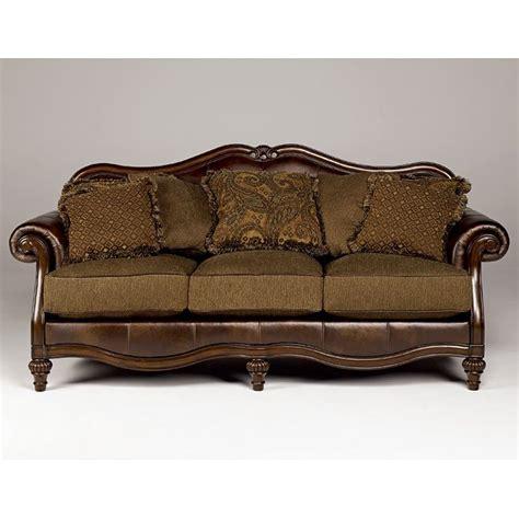 claremore antique sofa and loveseat claremore antique sofa signature design by