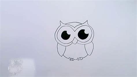 bilder zum nachmalen für kinder eule einfach zeichnen
