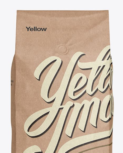 Discover thousands of free psd on freepik. 2,5 kg Kraft Coffee Bag With Valve Mockup - Front View in ...