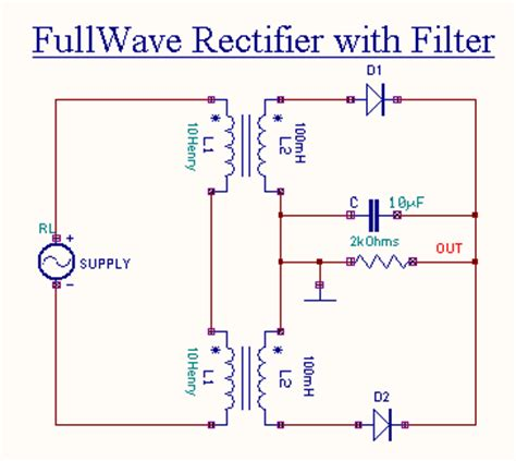 Circuit Diagram Of Full Wave Bridge Rectifier With Capacitor Filter