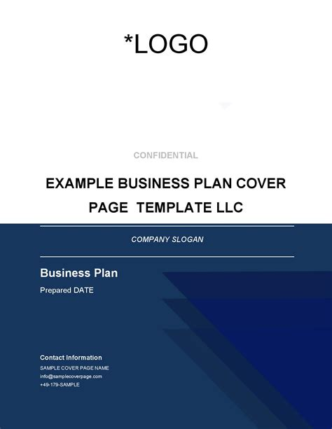 Cover Page Template Business Plan Cover Page Template Brainhive Business